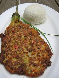 Tortang Talong (Eggplant Omellete) - a tasty, budget friendly Filipino dish