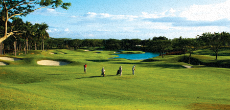 One of the many scenic Golf courses of Philippines